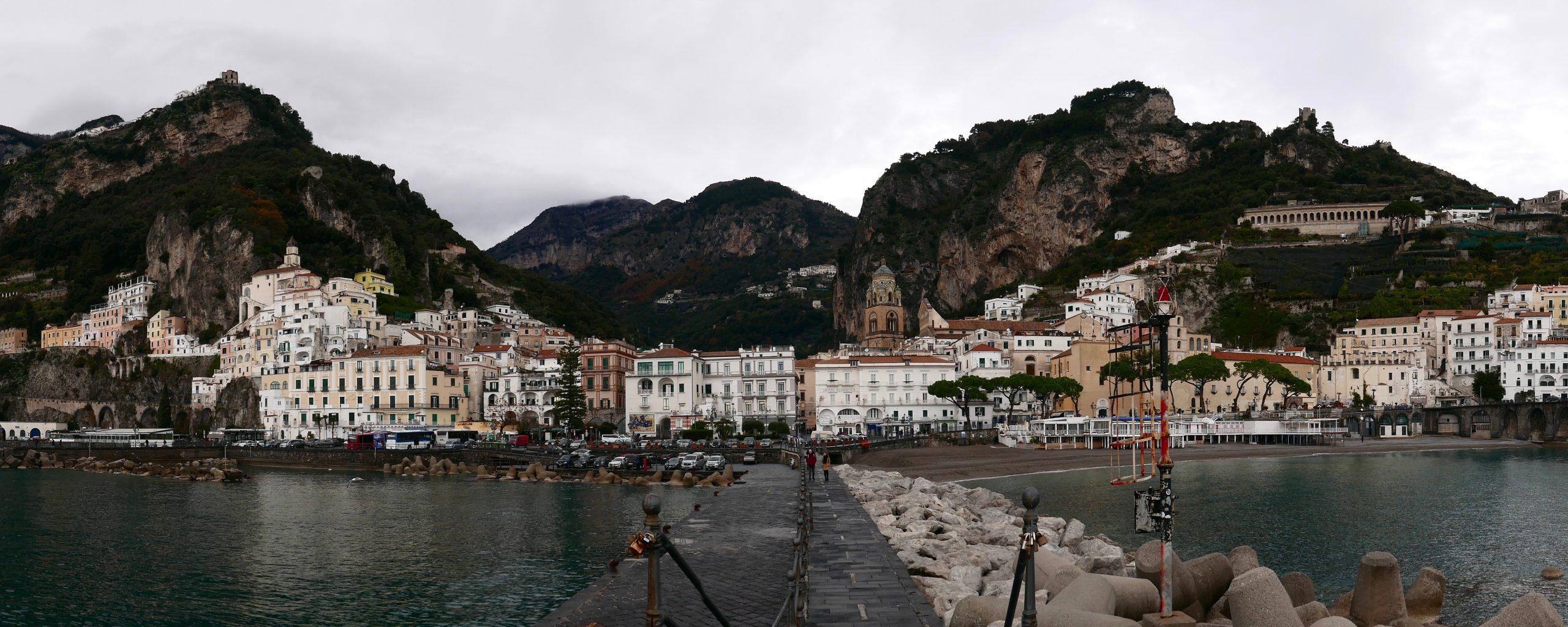 南義景點|冬天的阿瑪菲Amalfi好冷清|蘇連多到阿瑪菲交通全記錄